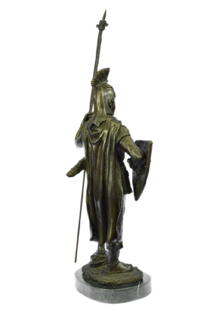 Roman Warrior with Armor Bronze Sculpture - 8