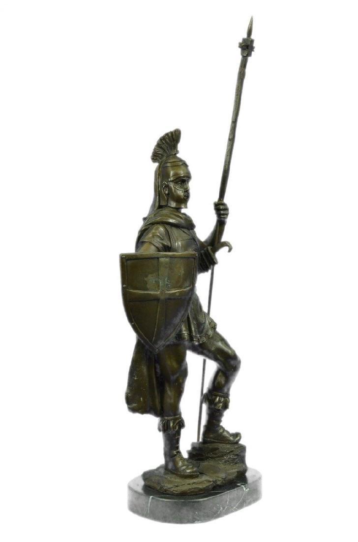 Roman Warrior with Armor Bronze Sculpture - 9