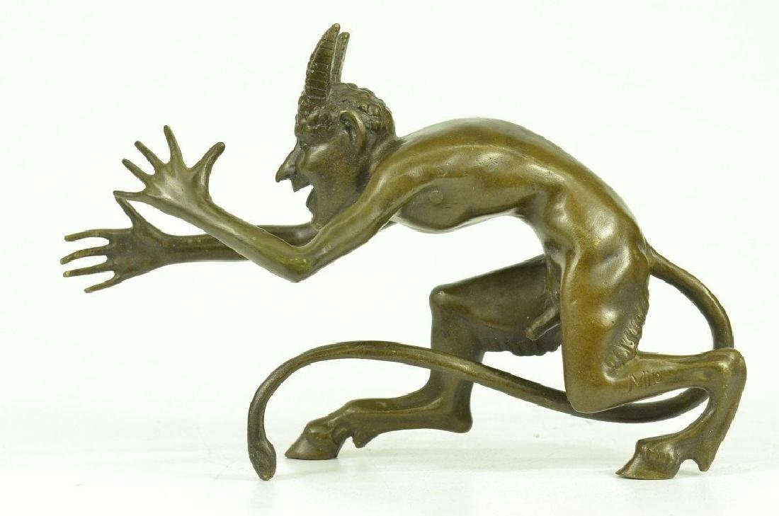 Satyr Diablo Faun Erotic Bronze Sculpture