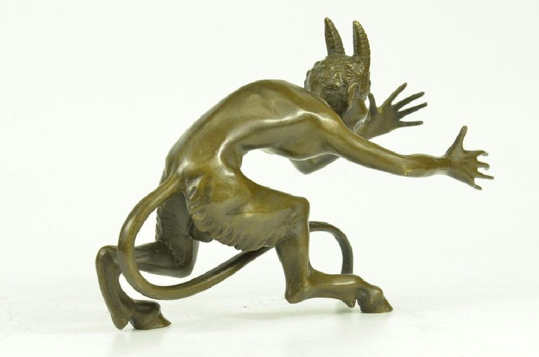 Satyr Diablo Faun Erotic Bronze Sculpture - 7