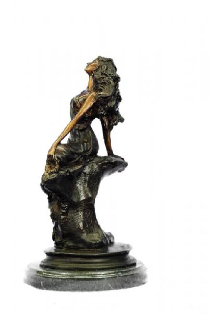 Sign Cancer Sexy Girl Bronze Figurine