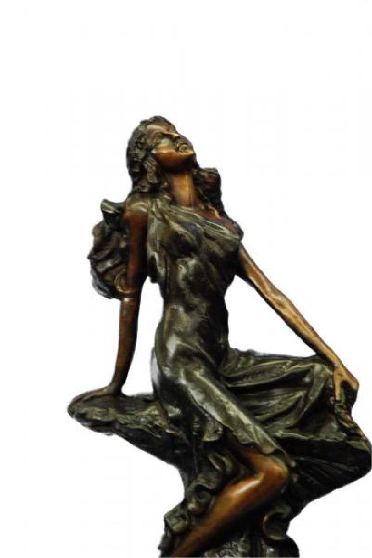 Sign Cancer Sexy Girl Bronze Figurine - 3