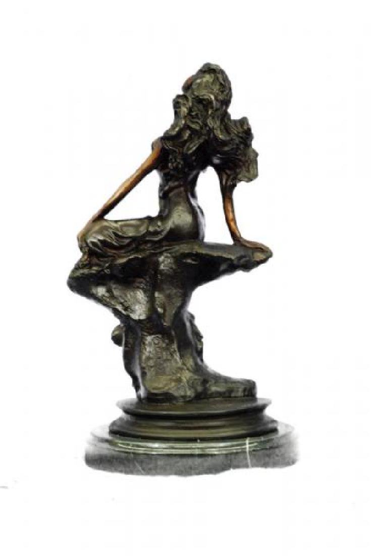 Sign Cancer Sexy Girl Bronze Figurine - 4