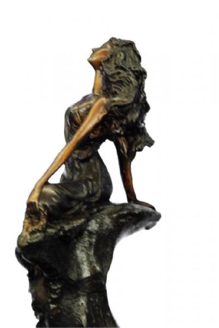 Sign Cancer Sexy Girl Bronze Figurine - 5
