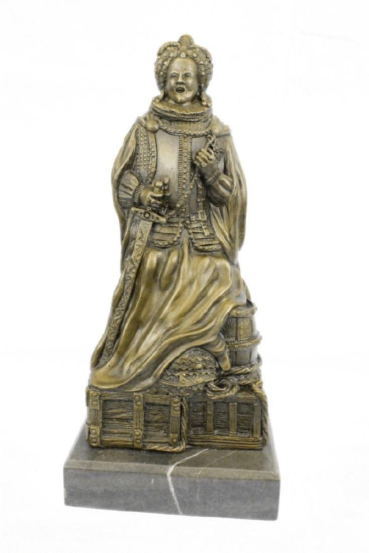 Royal Zengh Queen Elizabeth Bronze Sculpture