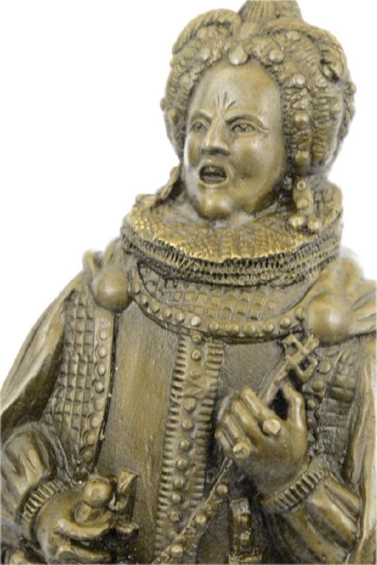 Royal Zengh Queen Elizabeth Bronze Sculpture - 2