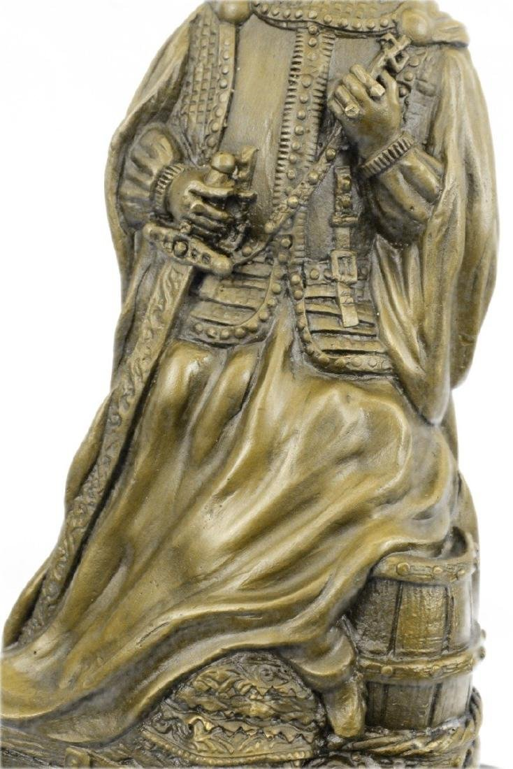 Royal Zengh Queen Elizabeth Bronze Sculpture - 4