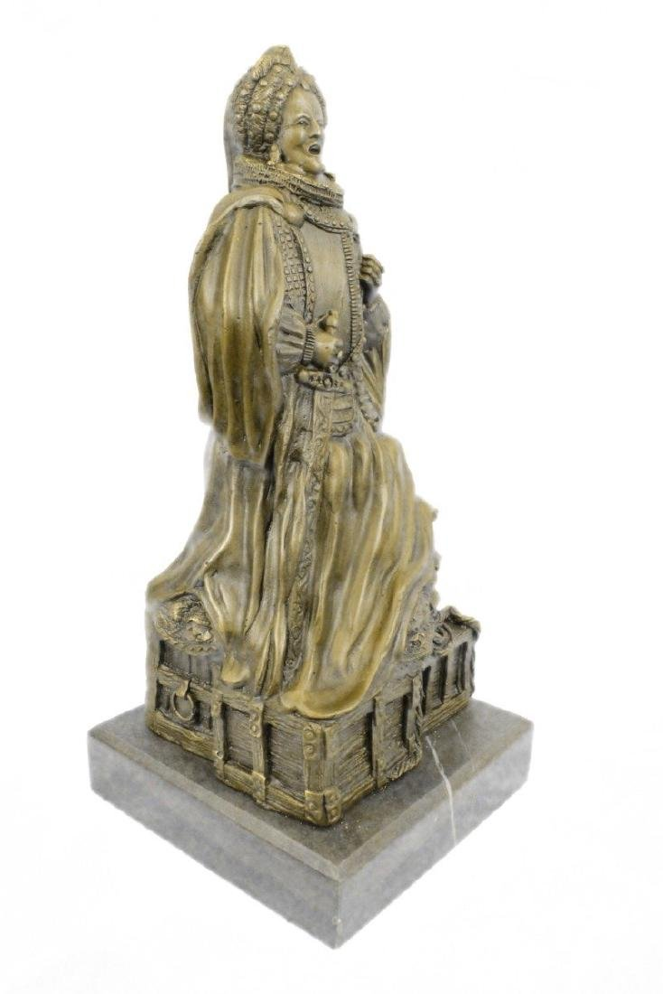 Royal Zengh Queen Elizabeth Bronze Sculpture - 5