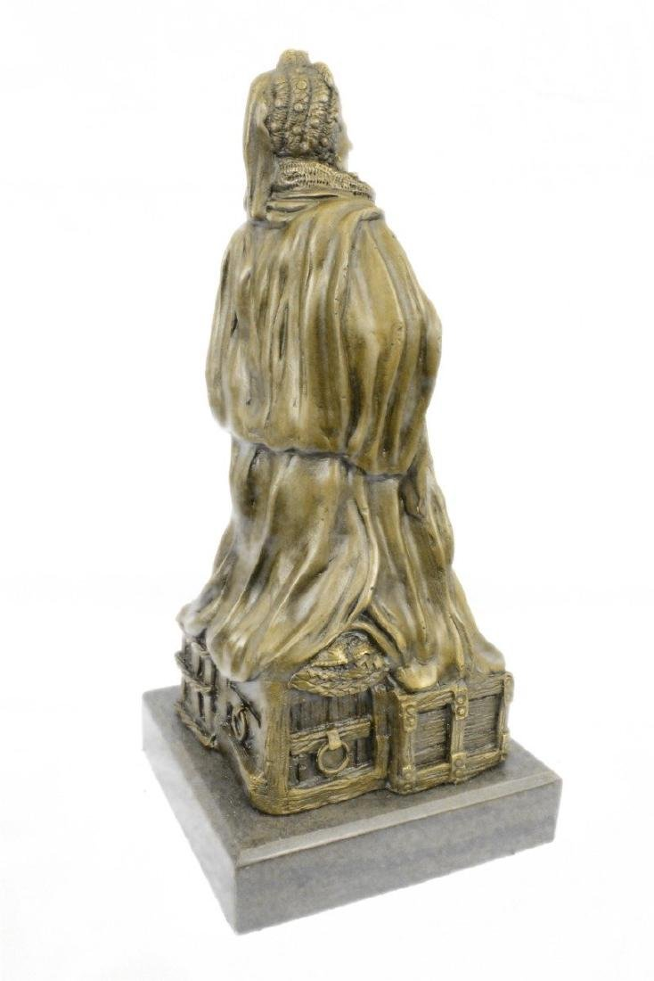 Royal Zengh Queen Elizabeth Bronze Sculpture - 6