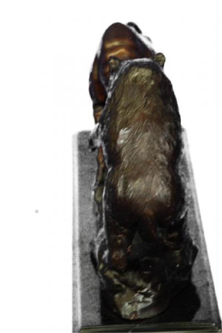 Bear and Bull Bronze Sculpture - 4
