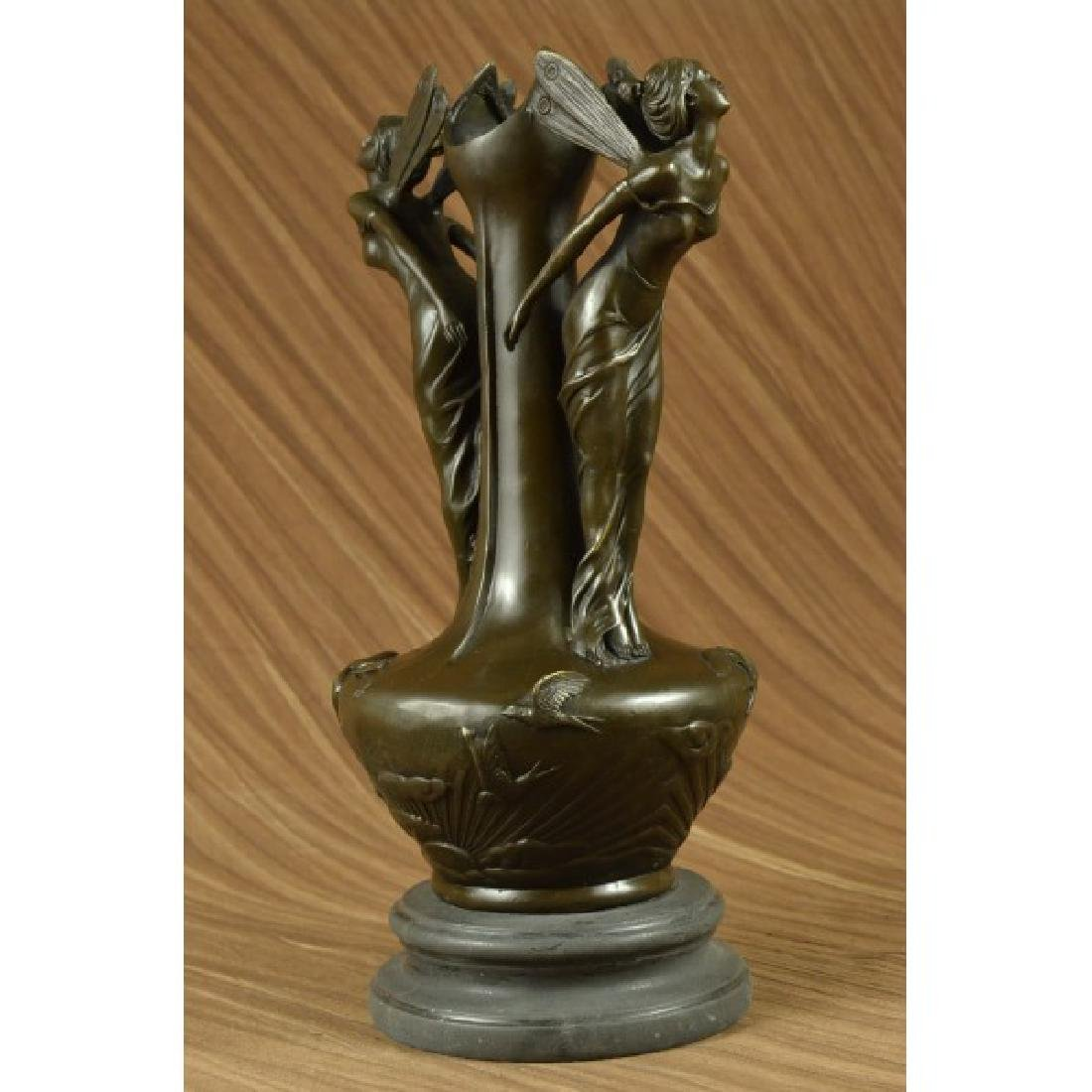 "16"" French pure bronze eximous belle vase statue - 3"