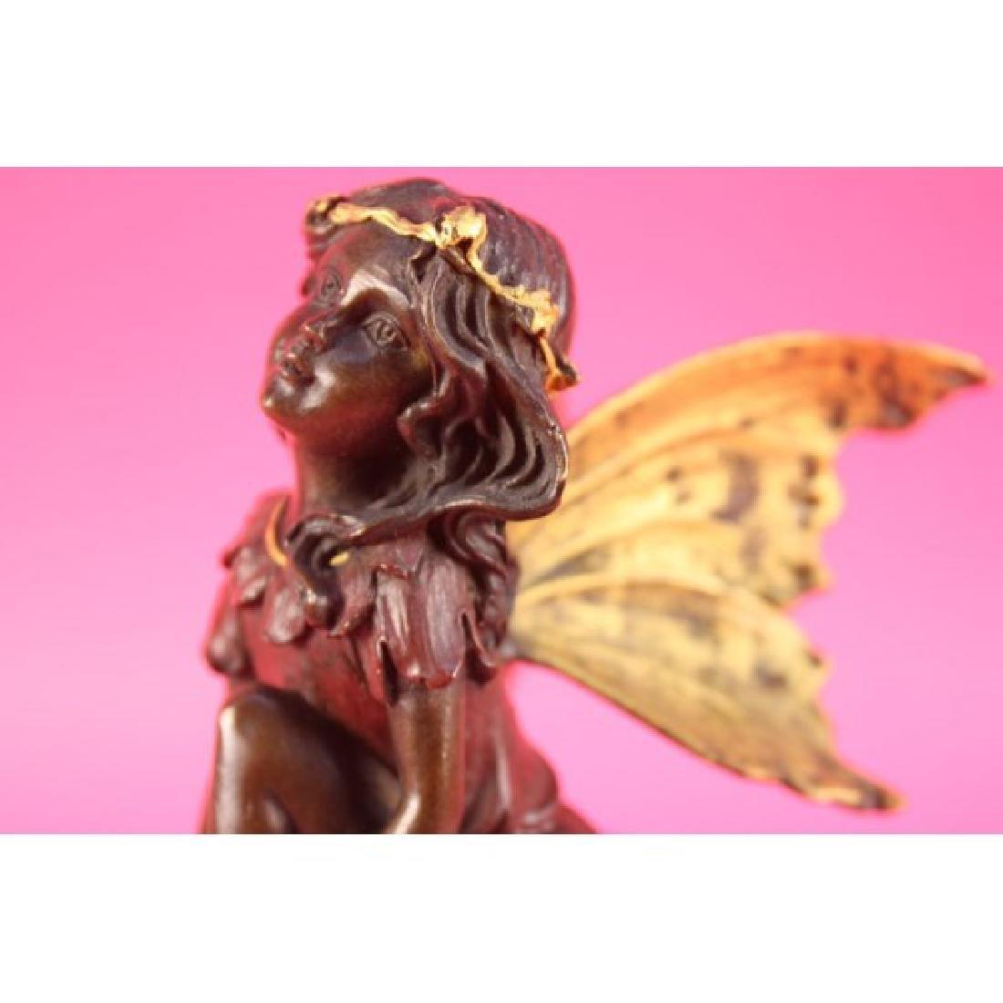Vintage Austrian Vienna Bronze of Butterfly Girl Angel