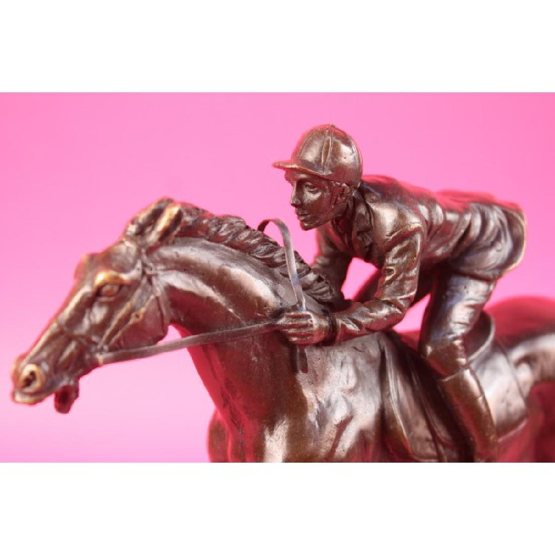 "Jockey on Racehorse ""After the Race"" signed"