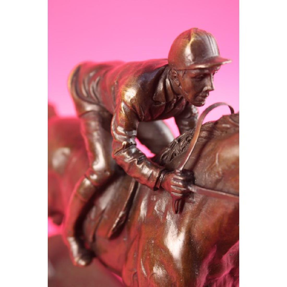 "Jockey on Racehorse ""After the Race"" signed - 4"