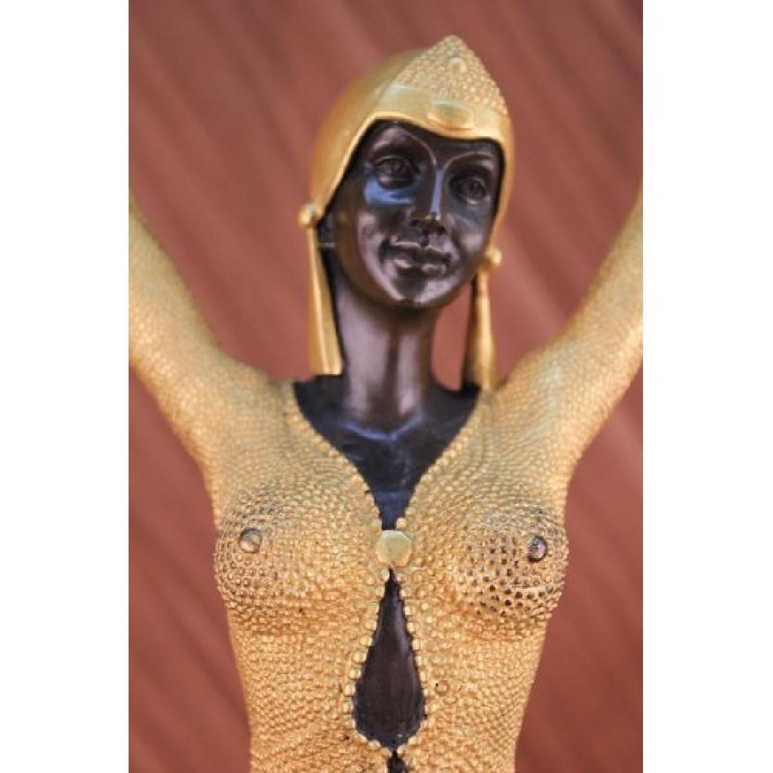 Gold Patina Starfish Dancer by Demetre Chiparus Bronze - 2