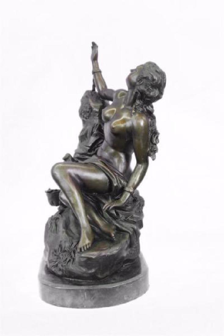 Nude Nymph Bronze Sculpture - 3