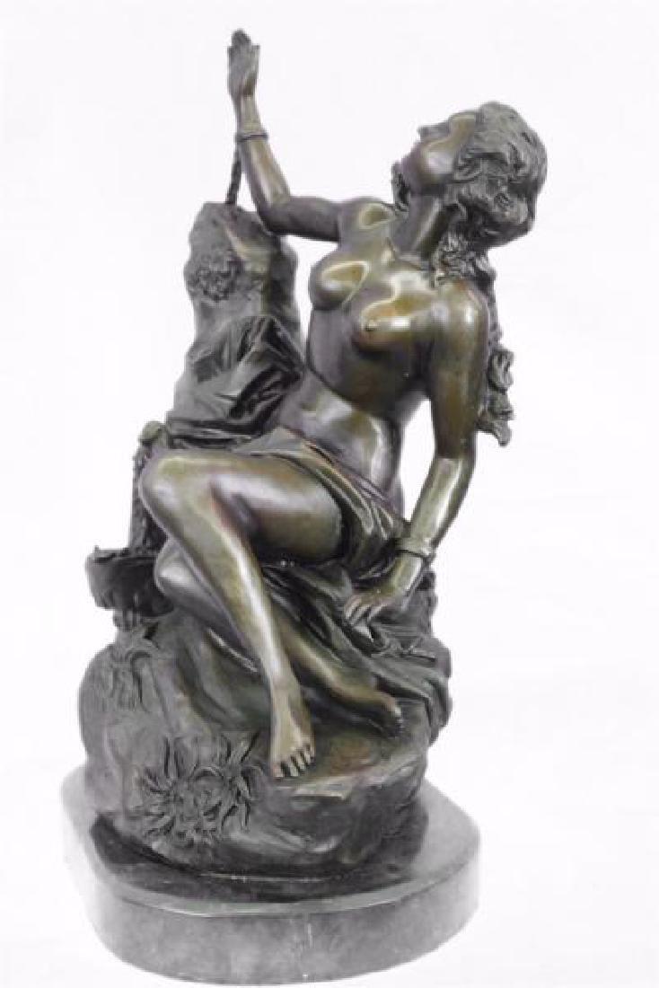 Nude Nymph Bronze Sculpture - 4