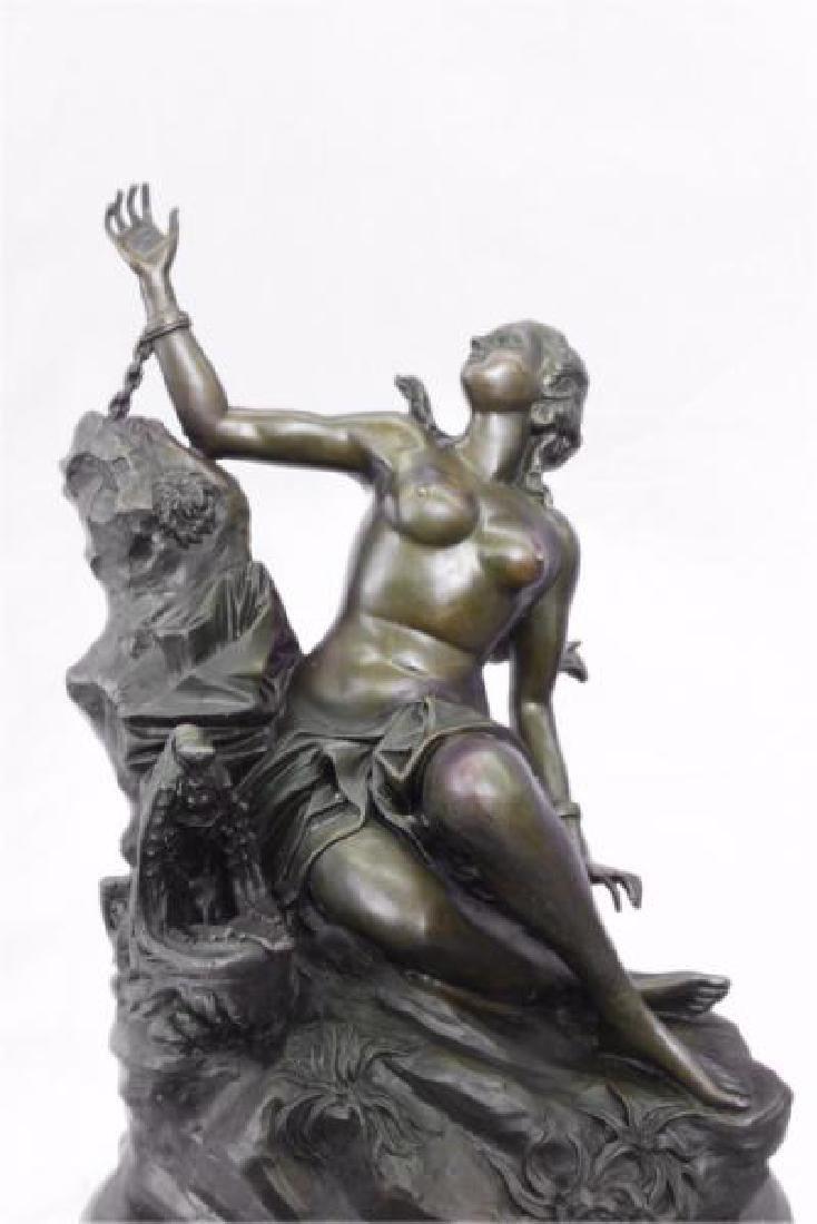 Nude Nymph Bronze Sculpture - 8