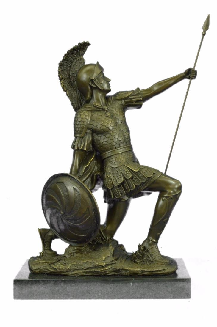 Roman Gladiator Sparton Warrior Bronze Sculpture