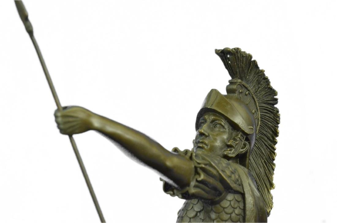Roman Gladiator Sparton Warrior Bronze Sculpture - 2