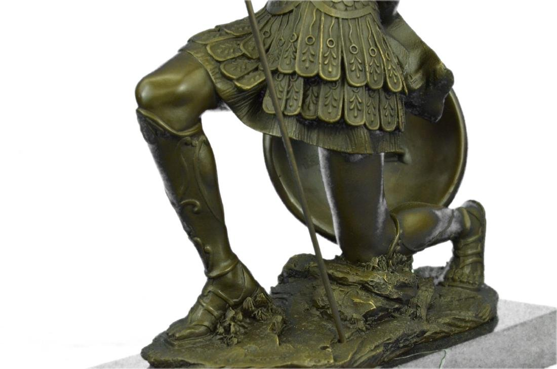 Roman Gladiator Sparton Warrior Bronze Sculpture - 3