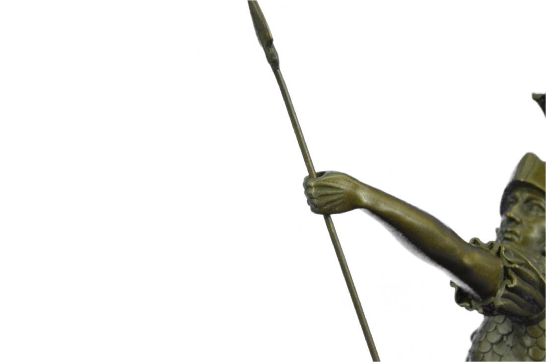 Roman Gladiator Sparton Warrior Bronze Sculpture - 4