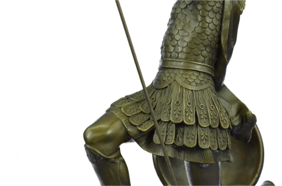 Roman Gladiator Sparton Warrior Bronze Sculpture - 5