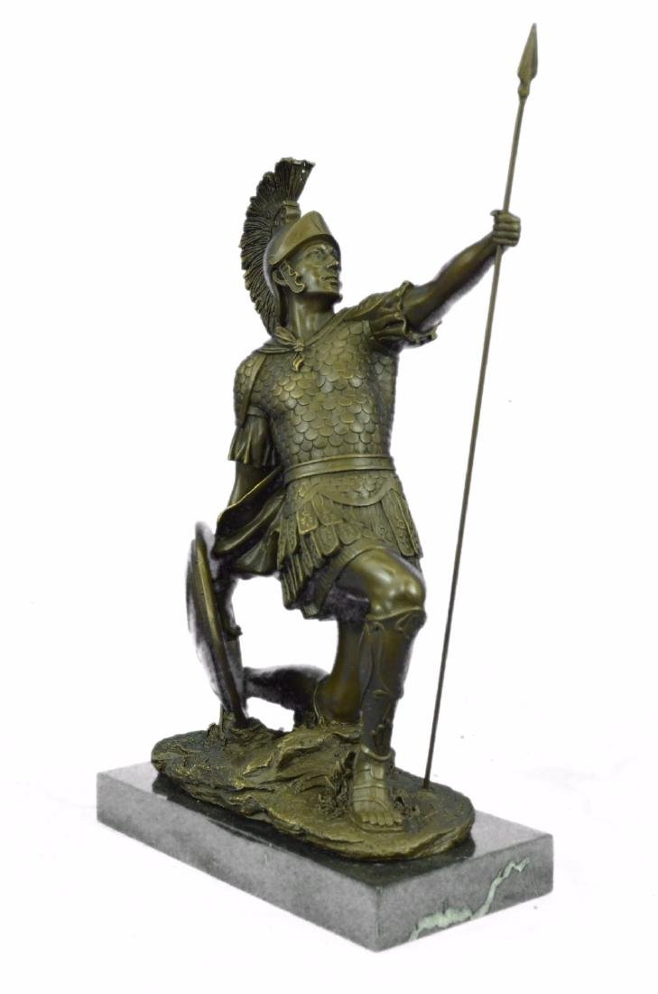 Roman Gladiator Sparton Warrior Bronze Sculpture - 6