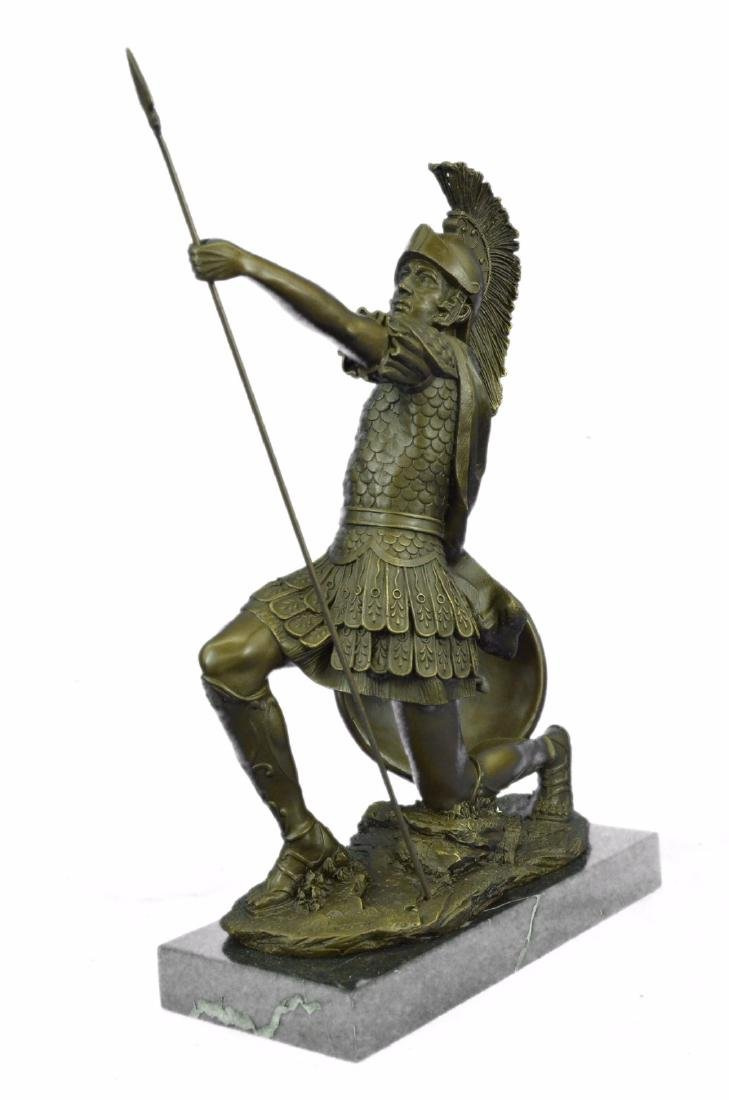 Roman Gladiator Sparton Warrior Bronze Sculpture - 7