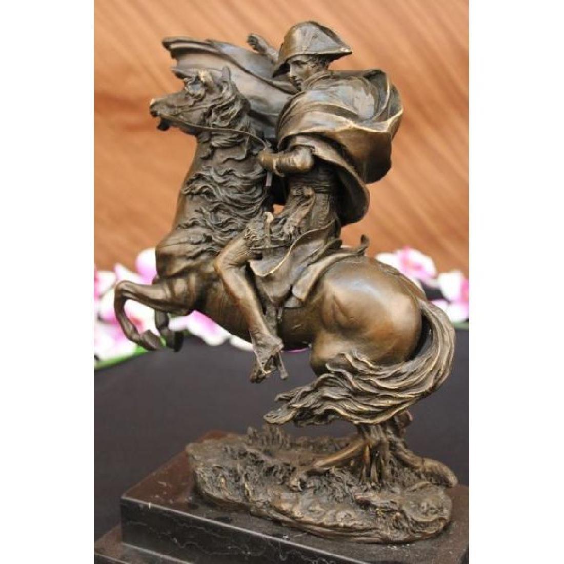 Large Bronze & Marble Sculpture of Napoleon - 3