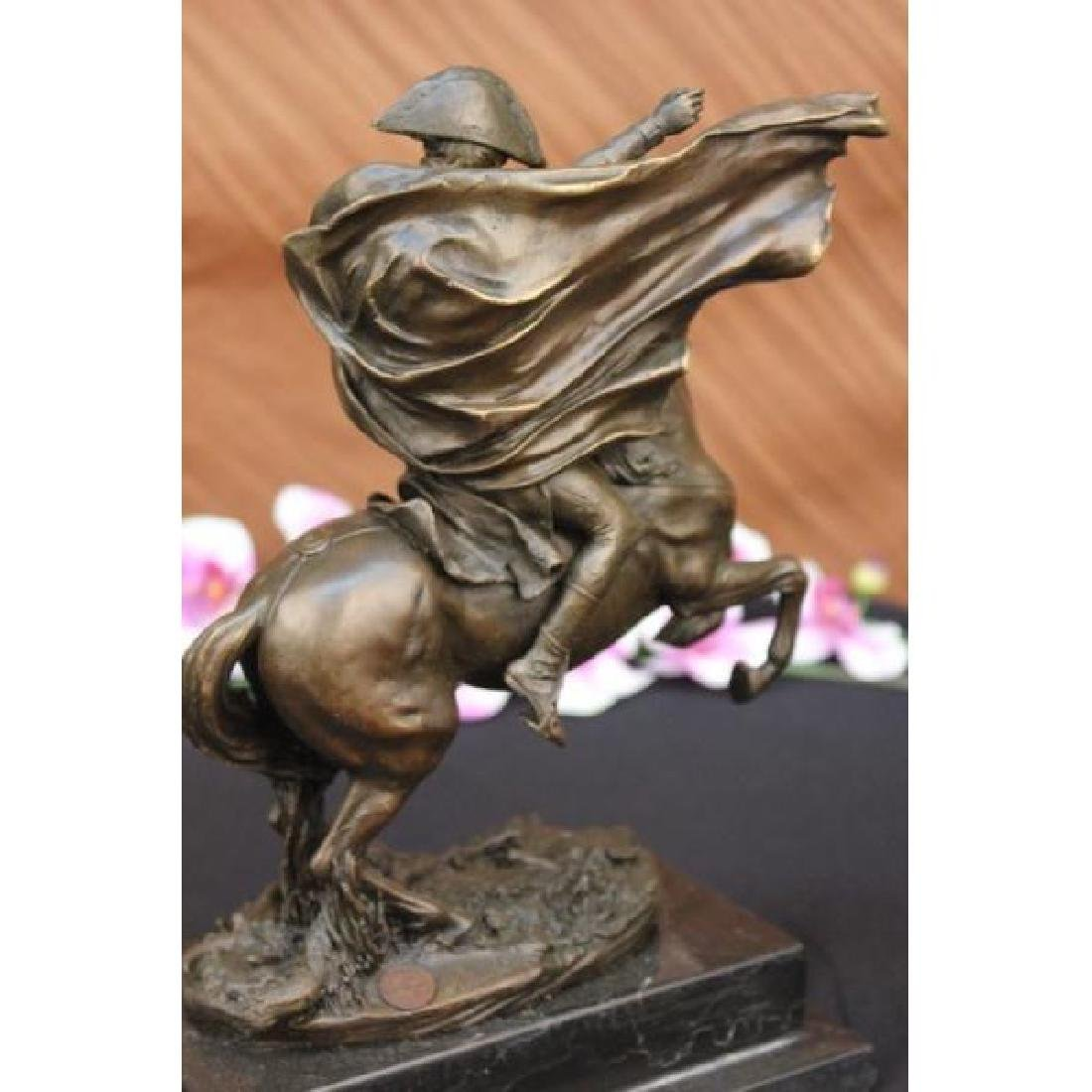 Large Bronze & Marble Sculpture of Napoleon - 4