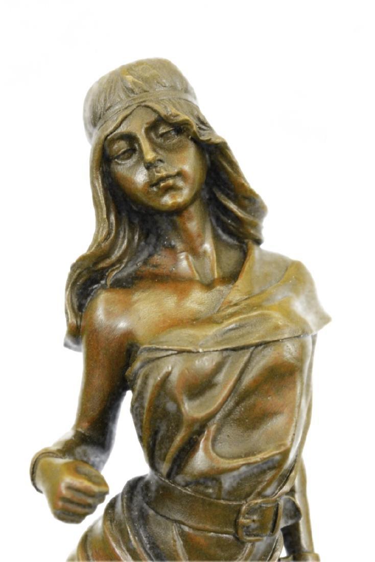 Native American Girl Bronze Sculpture - 2