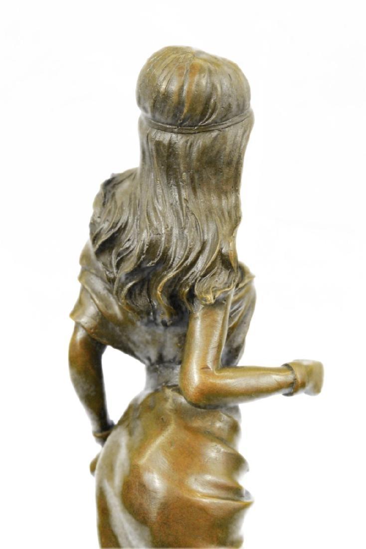 Native American Girl Bronze Sculpture - 5