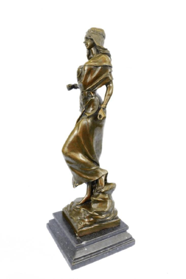 Native American Girl Bronze Sculpture - 9