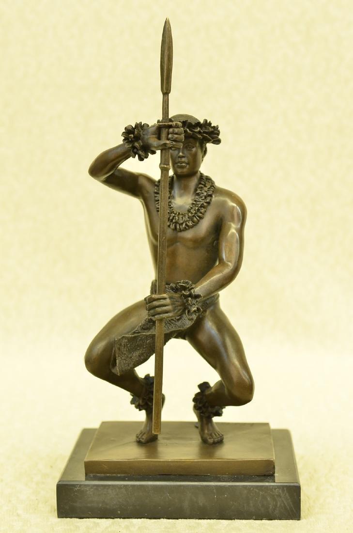 Classical Hawaiian Dancer Bronze Sculpture