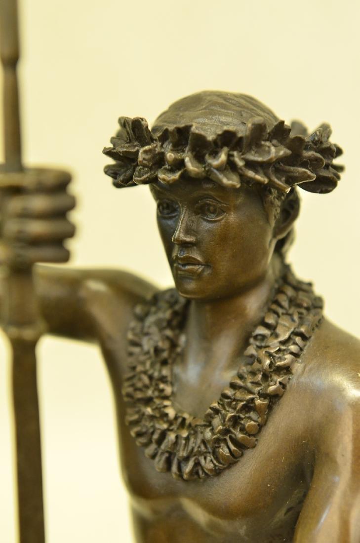 Classical Hawaiian Dancer Bronze Sculpture - 2