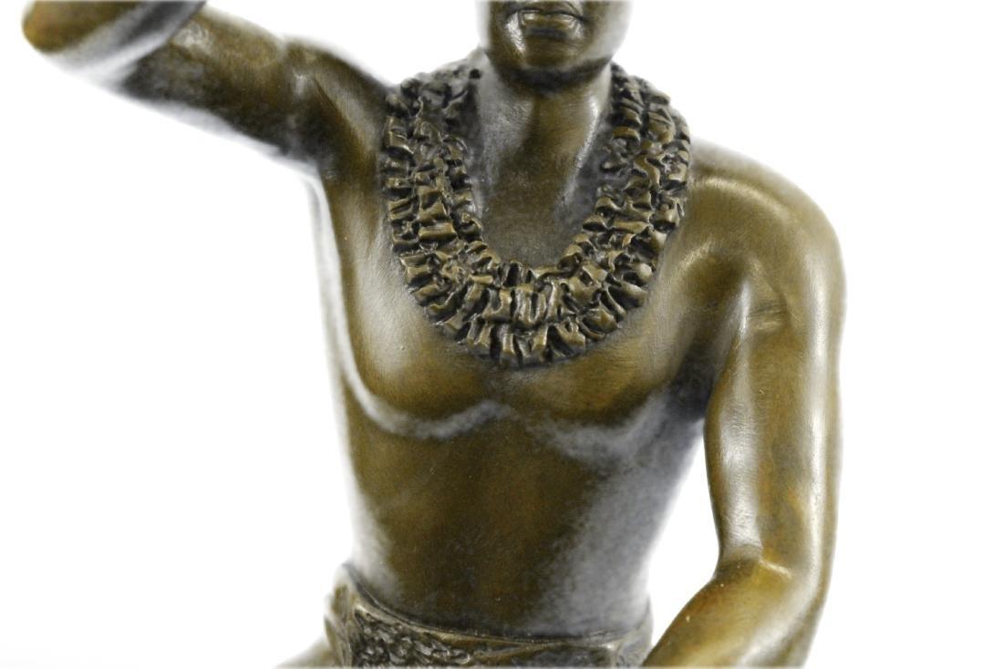 Classical Hawaiian Dancer Bronze Sculpture - 4