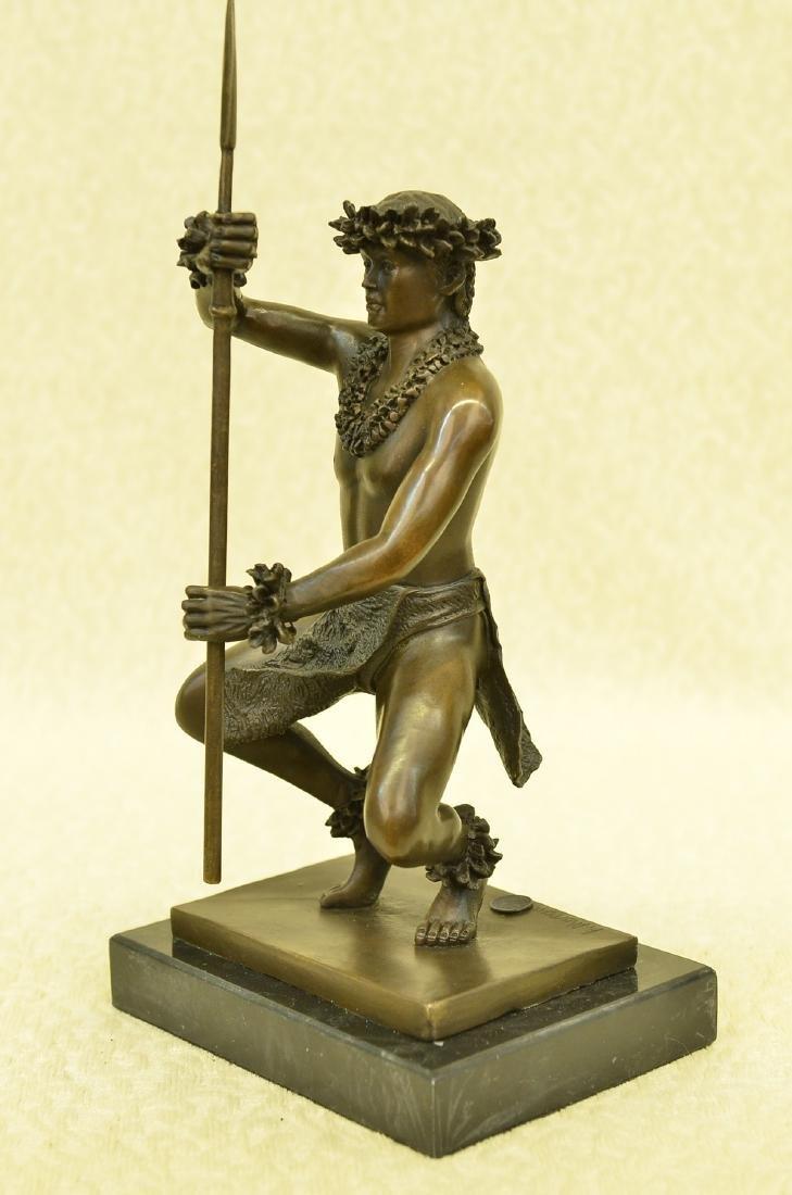 Classical Hawaiian Dancer Bronze Sculpture - 5