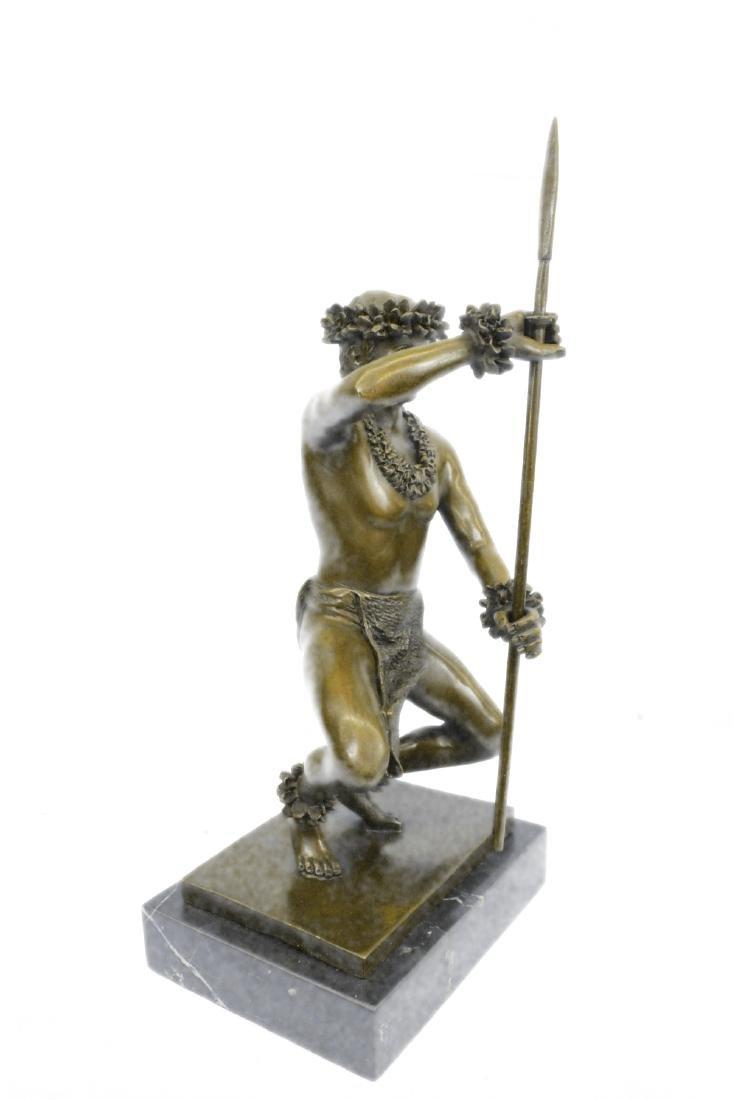 Classical Hawaiian Dancer Bronze Sculpture - 6