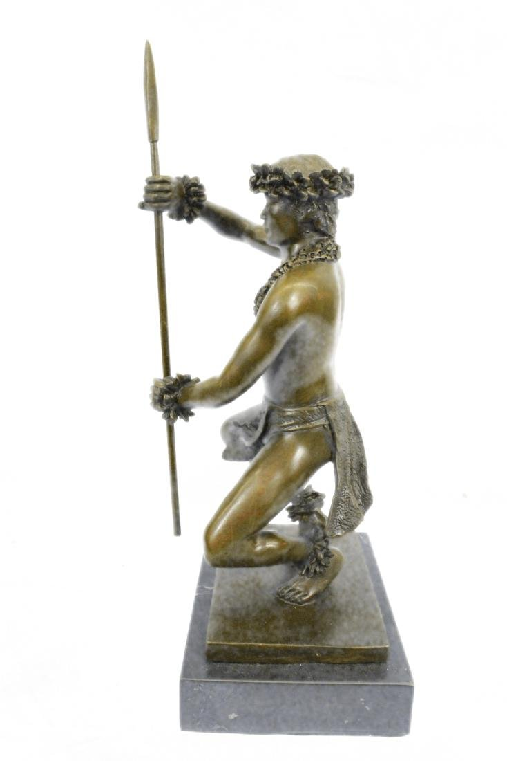 Classical Hawaiian Dancer Bronze Sculpture - 7