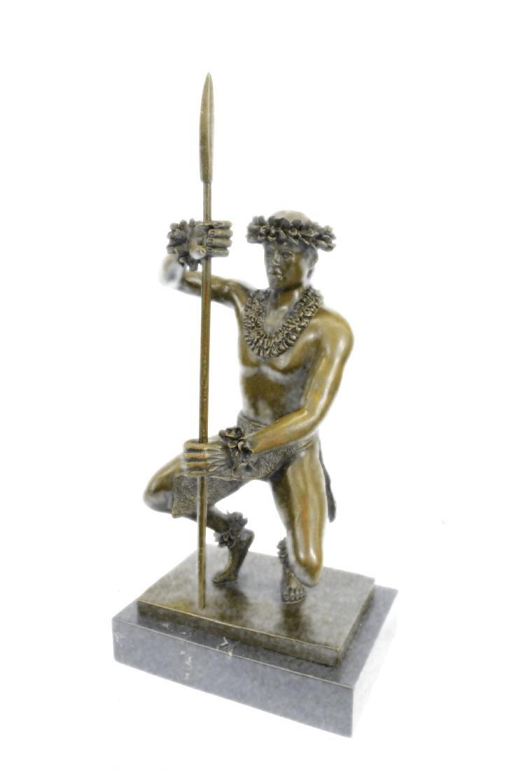 Classical Hawaiian Dancer Bronze Sculpture - 8
