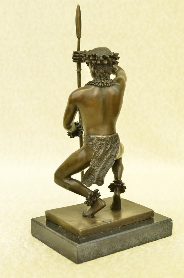 Classical Hawaiian Dancer Bronze Sculpture - 9