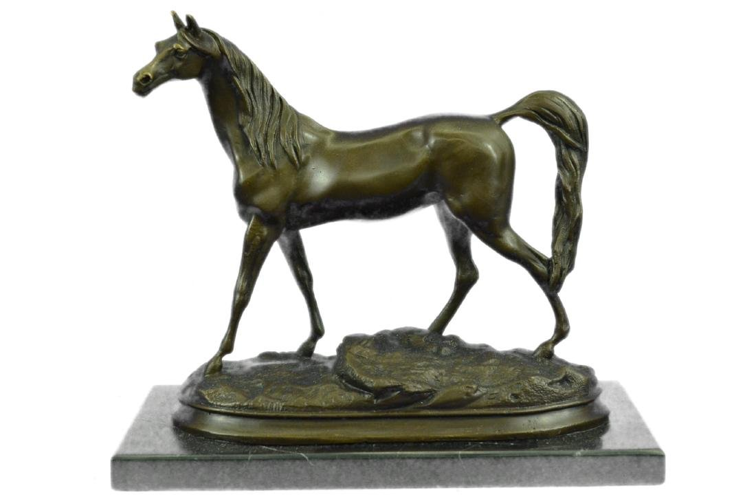 ORIGINAL SIGNED ARABIAN HORSE BRONZE SCULPTURE