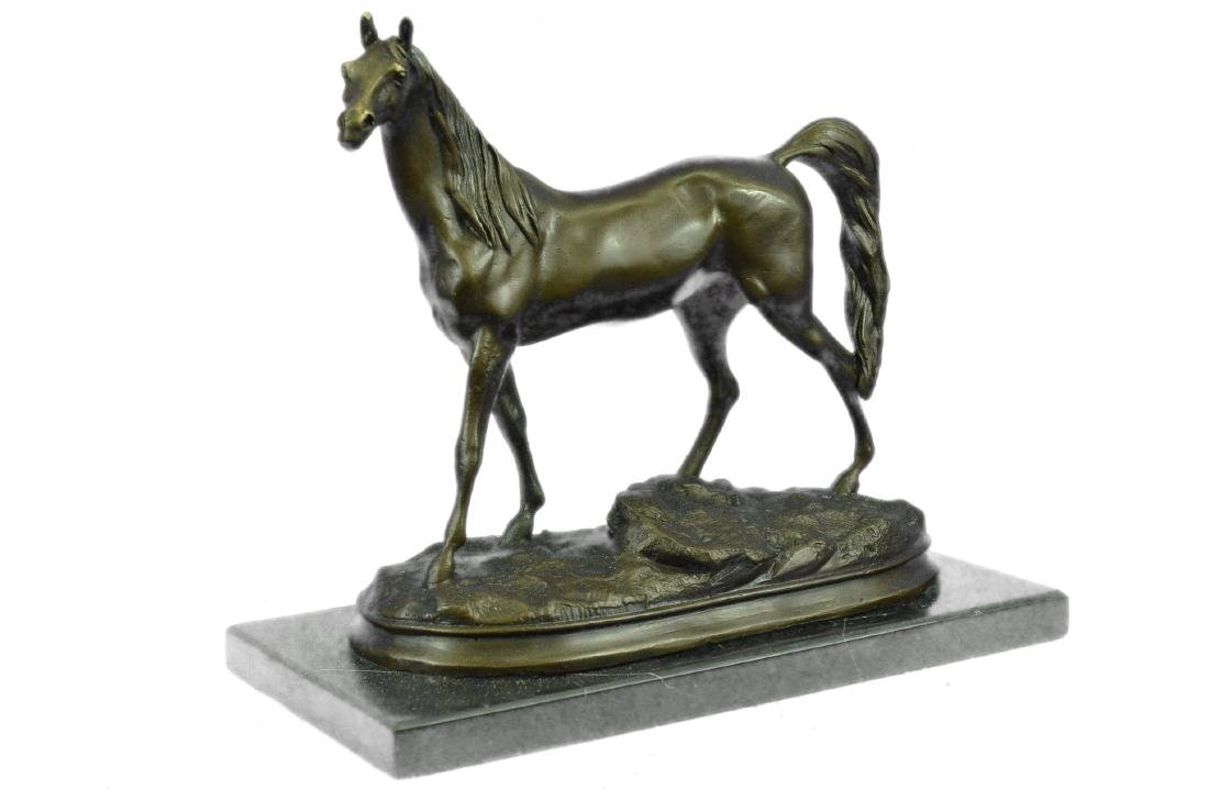 ORIGINAL SIGNED ARABIAN HORSE BRONZE SCULPTURE - 4
