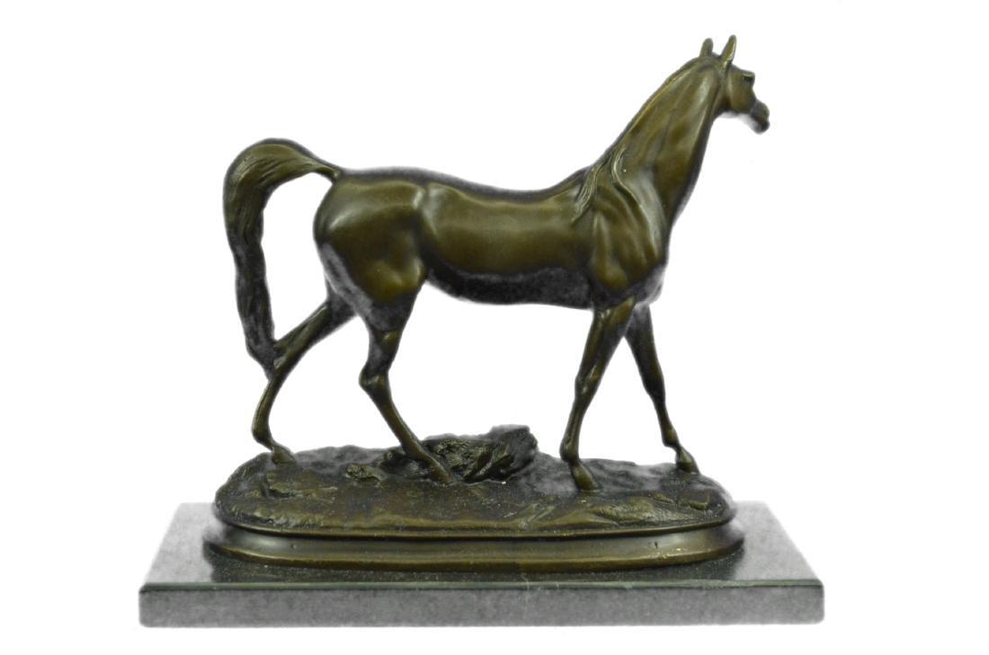ORIGINAL SIGNED ARABIAN HORSE BRONZE SCULPTURE - 6