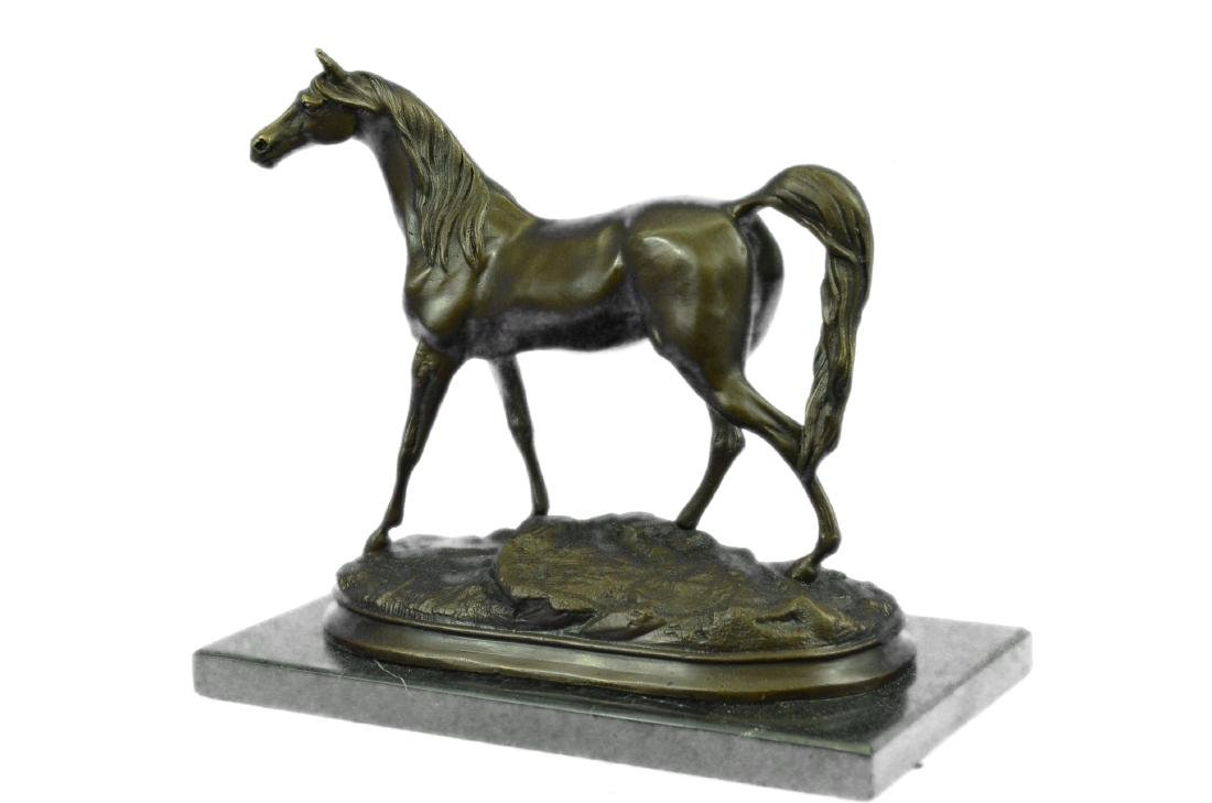 ORIGINAL SIGNED ARABIAN HORSE BRONZE SCULPTURE - 8