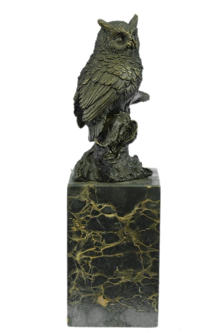 Vienna Bronze Bird Owl Book End Bookend Bronze