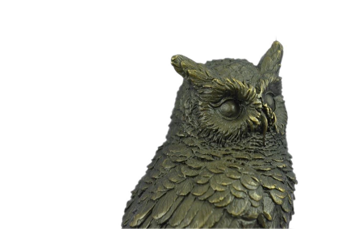 Vienna Bronze Bird Owl Book End Bookend Bronze - 2