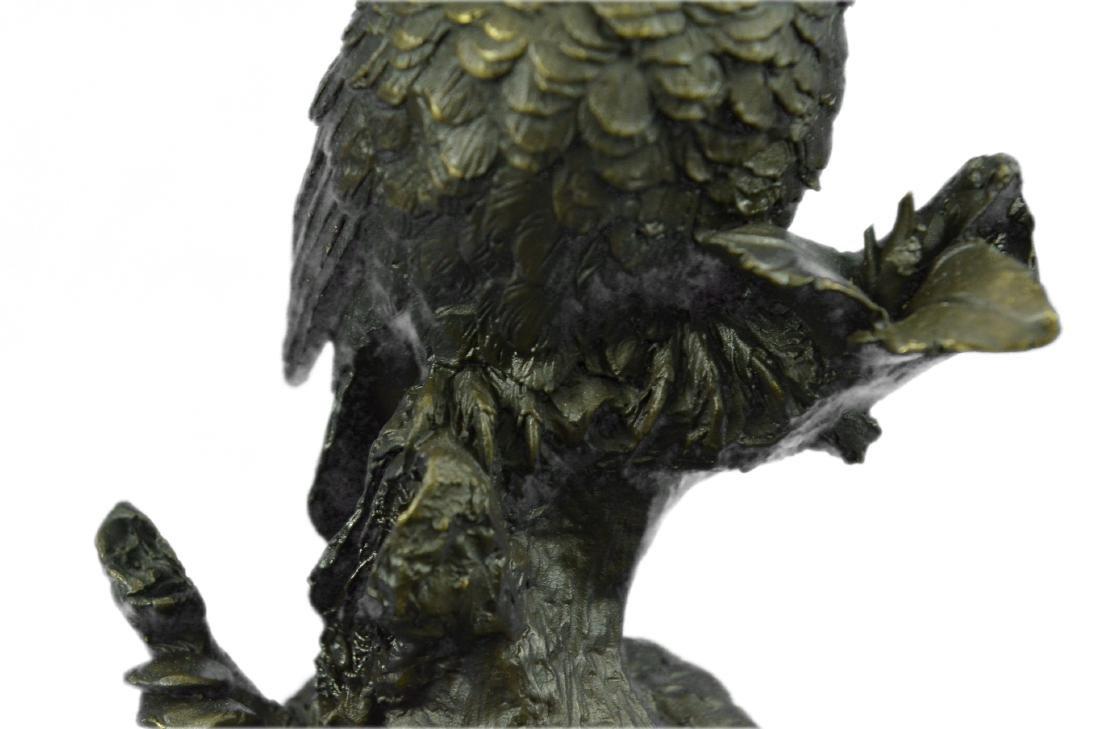 Vienna Bronze Bird Owl Book End Bookend Bronze - 3