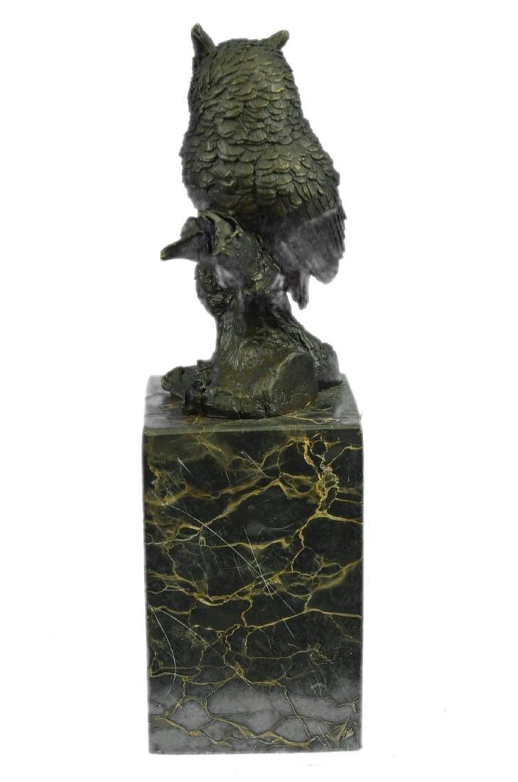 Vienna Bronze Bird Owl Book End Bookend Bronze - 7